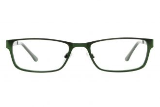 Edison und King Brille Elements Metallbrille in grün Frontansicht