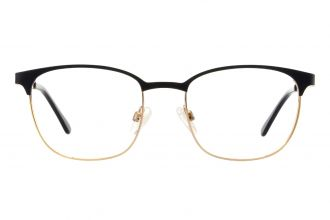 Edison & King Royal Metallbrille für Damen in schwarz gold